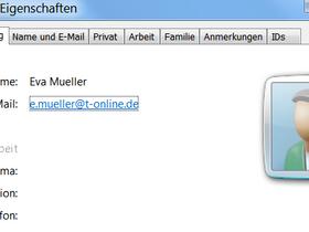 Visitenkartenansicht Wie In Outlook Adressbuch