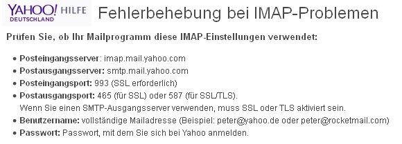 Yahoo-Anmeldeversuch verhindert