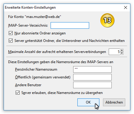 E-Mail-Konto (IMAP) einrichten - Thunderbird Mail DE